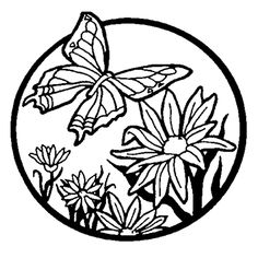 Flower Coloring Pages Erfly Flowers