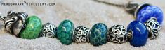 """""""These fishy themed beads were made to go with a special Christmas present ..."""""""