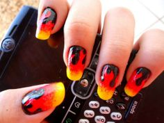 flame nails. YES. this may be my next manicure.