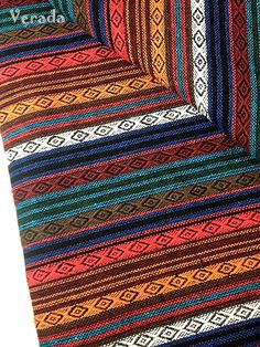 Thai Woven Cotton Fabric Tribal Fabric Native Fabric by the yard Ethnic fabric…