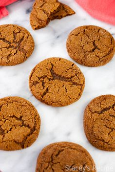 A family recipe with plenty of ginger and molasses, a holiday cookie that will melt in your mouth! | www.staceysrecipes.com Winter Treats, Ginger Cookies, Melt In Your Mouth, Ginger Snaps, Holiday Cookies, Family Meals, Christmas Holidays, Baking, Platter