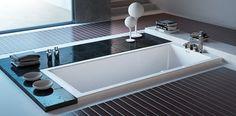 Diseño elegante y sencillo de bañera de hidromasaje.