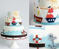 Cutesy Nautical Cake