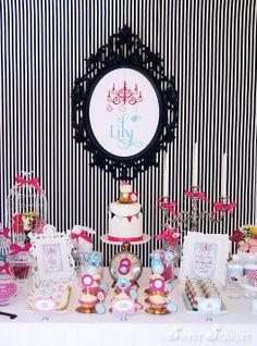 Alice in Wonderland / Mad Hatter Tea Party Dessert Table by Sweet Scarlet Designs