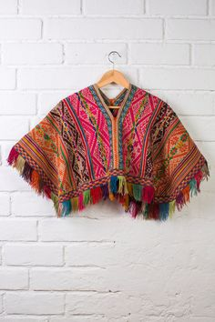 BOHO PONCHO  Hippie poncho boho cape bohemian by WeKnitColor
