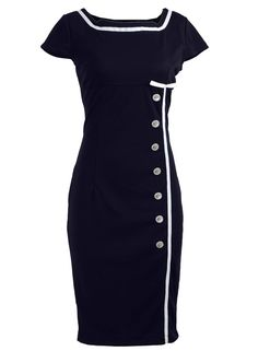 (click twice for updated pricing and more info) Cocktail Dresses - Navy Blue Sailor Nautical Pinup Rockabilly Vintage Retro Pencil Women's Dress http://www.plainandsimpledeals.com/prod.php?node=49242=_Cocktail_Dresses_-_Navy_Blue_Sailor_Nautical_Pinup_Rockabilly_Vintage_Retro_Pencil_Women's_Dress #coctail_dresses