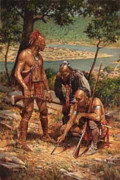 Planning the Attack on Fort Pitt by Robert Griffing American Frontier, Indiana, American Indian Art, American Indians, Early American, Native American Warrior, Native American History, Native Art, Native Indian