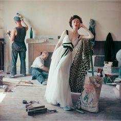 Dior dress, 1958. Photo by Mark Shaw.
