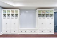 Playroom storage. Maybe a chalkboard, magnetic board, or hanging art station in between.