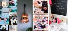 Nadie quiere gastarse toda la quincena en su cuarto y por eso muchas veces lo dejamos tal y como está. Sin embargo, hay muchos truquitos que puedes aplicar para renovar tu cuarto y dale una nueva esencia. 1. Organiza mejor tus mascadas con divisores.  2. Decora con cerillos 3. Haz un reloj con fotos … Apartment Chic, Studio Apartment Decorating, Rustic Wedding Bar, Small Balcony Design, Ikea Wall, Cute Nail Art Designs, Pink Moon, Ideas Geniales, Decorate Your Room