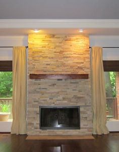 Brick and Stone Fireplace Designs | house thoughts | Pinterest ...