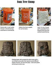 Journey off the Map - Faux Tree Stump Instructions VBS 2015 Theatre Props, Stage Props, Theater, Halloween Crafts, Halloween Decorations, Halloween Party, Halloween Village, Halloween Ideas, Craft Font