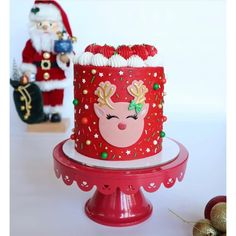 """""""RUDOLPH REINDEER 3D"""" Embosser & Cutter Set Xmas Food, Christmas Baking, Christmas Cookies, Christmas Cake Decorations, Holiday Cakes, Christmas Ideas, Custom Cookie Cutters, Custom Cookies, Christmas Birthday Party"""
