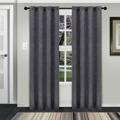 Superior Waverly Insulated Thermal Blackout Grommet Curtain Panel Pair (52X84 - Silver), Size 84 Inches