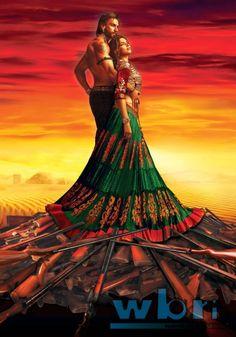 Deepika Padukone in Ram Leela (2013) Hindi Film Poster Wallpaper. A story of love in violent times, Eros International & Bhansali Productions' Ram Leela starring Deepika Padukone and Ranveer Singh is scheduled to release November 29th 2013.