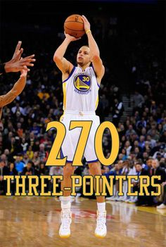 Steph Curry making history - and I got to watch the season!  2012-2013 to be exact.  The most 3 point shots made in ALL of NBA history.  He's magical to watch.