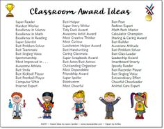 Classroom Award Tips and Freebies! Most schools have some sort of award program at the end of the year to recognize students for achieving the Honor Roll, having perfect attendance, or excelling in other areas. Most of my students received an award, but there were always some who didn't receive anything at all. Typically these children were the very ones who had struggled all year and who were facing difficulties and a lack of parent support at home. I couldn't help but feel sorry fo...