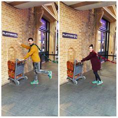 23/03/2016-¿Y por qué esta imagen? Porque nos encanta traer un poco de magia a los corazones de nuestros viajeros como la que sintieron nuestros protagonistas de la foto,@ursulamcrm & Jordi , en su visita a Londres, en concreto a la estación de King Cross. Si eres un Harry Potter adicto... no te lo pierdas y ¡siente su magia! Harry Potter, London, Magick, Hearts