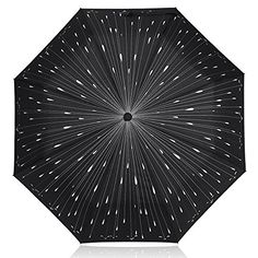 ANGTUO Raindrops Folding Umbrella Fancy Windproof Rain Umbrella for TravelBlack *** Click on the image for additional details.