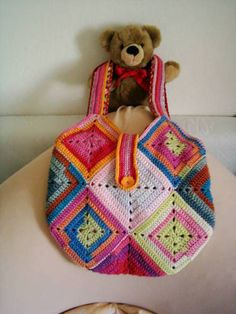 granny square bag - CROCHET