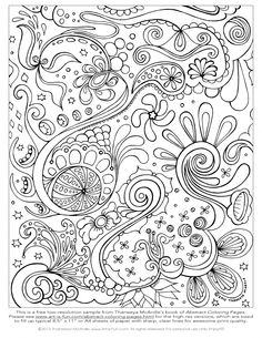 this free abstract coloring page is filled with intricate details and fun psychedelic designs from a printable abstract coloring book by thaneeya mcardle