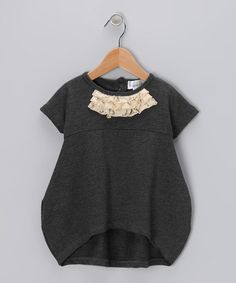 #fall #zulily  Take a look at this Gray Sweater Dress - Girls by Right Bank Babies on #zulily today!