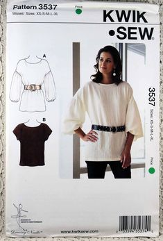 Kwik Sew 3537, Misses' Pullover Tops Sewing Pattern, Misses' Size XS - XL, Misses' Top Sewing Pattern, Uncut by Allyssecondattic on Etsy