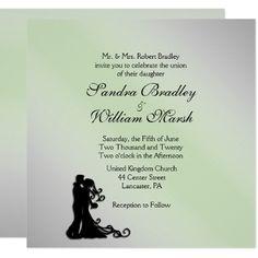 #classy - #Stunning Silver and Green Wedding Invitation