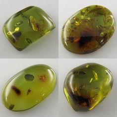 Green amber with bugs? Why yes! http://www.magpiegemstones.com/amber.html