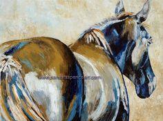 Original Horse Painting BIG 18x24 via Etsy.