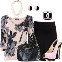 """Gray and Black Roses"" by penny-martin on Polyvore"