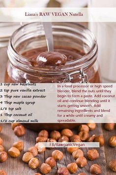 Raw Vegan Nutella - just did this! Came out good