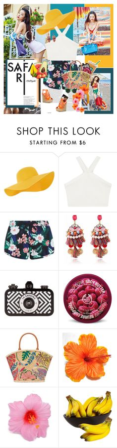 """""""Chapter 24: Tropical Summer"""" by summervintage ❤ liked on Polyvore featuring Accessorize, BCBGMAXAZRIA, New Look, The Body Shop, Tory Burch and Dolce&Gabbana"""