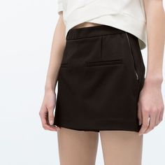 ZARA High Waist Shorts  Black / Hight waist shorts with skirt front and side zip. / Price is firm :-) Zara Shorts