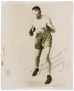 A fast and well-schooled fighter with no lack of heart and determination, Jack Sharkey is nonetheless overshadowed by the other heavyweight champions of his era. Sharkey?s indefatigable willingness to fight any opponent is best illustrated by his distinction in being the only man to have faced both Jack Dempsey and Joe Louis in prizefights. Though he consistently fought the best, Jack did not always win when up against the true upper crust of the division. In fact, his finest performances ar...