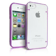 Design It Yourself! Discover one of our bestsellers and create your own trendy design on the back! iPhone 4S Case Shockproof Slim Hard Plastic Crystal Cover with Luminous Fluorescent Transparent Clear Glowing in Dark Frame - Purple| MagicMobile