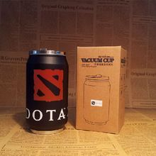DOTA 2 Cans Styling Bunk Stainless Steel Vacuum Cup Travel Mug Creative Gift for Friend's Birthday CT135(China (Mainland))