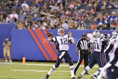 The New England Patriots take on the New York Giants in a preseason game at…