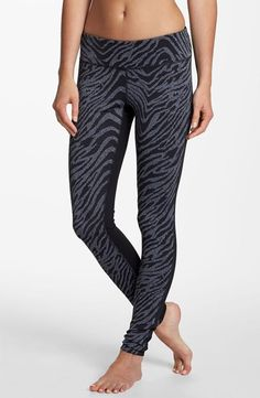 Z is for Zella 'Live In' zebra print leggings.