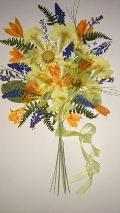 Kurutulmuş çiçek çalışmam (My works)