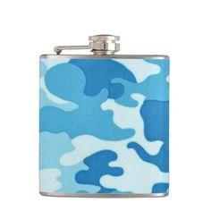 Camo Pattern tile fun flask