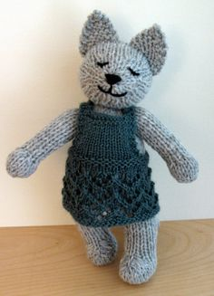 ClementineHand Knit Wool Cat by PawsButton on Etsy