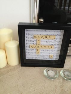 My scrabble art for a wedding present! #scrabble