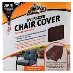 Mr Bar B Q - 07805Aa - Chair Cover 33X35x36 Taupe (Brown), Patio Furniture