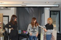 Hair dressers on stage Dressers, Hairdresser, Stage, Selfie, People, Vanities, Dresser Drawers, Vestidos, People Illustration