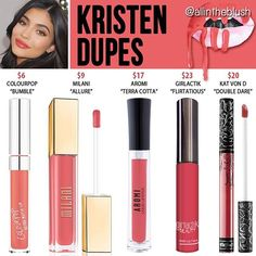 You guys asked for it Here are some #Kristen (one of Kylie's new Summer Lipkit…
