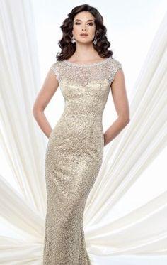 9d1e41de2b Embellished Lace Gown by Mon Cheri Montage 215912 Mob Dresses