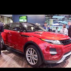 Range Rover Evoque. The interior was actually styled by Victoria Beckham.