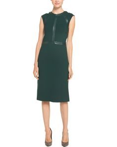 Cynthia Rowley Hunter Sleeveless Leather Panel Dress is on Rue. Shop it now.