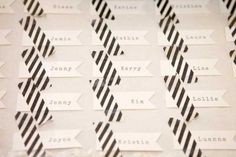 REVEL: Washi Tape Escort Cards; we could def incorporate washi tape:)